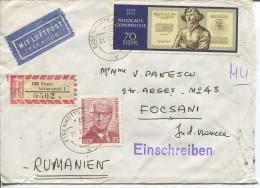 1 R-Letter,1970s, Eisenhutten 6   To Romania - Lettres