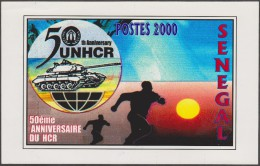 Sénégal 2001 Y&T 1626C. Épreuve-photo, Sans La Valeur Faciale. Réfugiés. Soleil, Char, Personnages Fuyant - Refugees