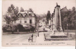 BAR LE DUC 108 MONUMENT DES ENFANTS DE LA MEUSE ET RUE DE LA GARE - Monuments Aux Morts