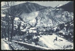 L´ Hiver A Luchon.- Route De Peyresourde. Vue Sur Luchon - Luchon