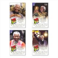 Vanuatu 2014 - Commemorating The Life Of Nelson Mandela 1918-2013 Stamp Set Mnh - Vanuatu (1980-...)
