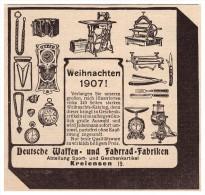 Original Werbung - 1907 - Waffen- Und Fahrradfabrik In Kreiensen B. Einbeck !!! - Fahrzeuge