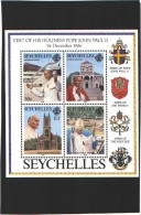 Seychelles - BF  ** (MNH) - Visite Du Pape Jean-Paul II - Visit Of His Holiness Pope John Paul II - 1986 - Seychelles (1976-...)