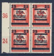 Lokalausgaben Glauchau Michel No. 36 ** postfrisch Viererblock