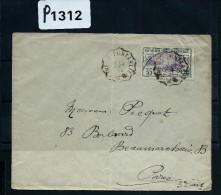 "FRANCE - ORPHELIN N° 166 SEUL SUR LETTRE - 1924 - OBL AMBULANT  "" MOUTHE /PONTARLIER""  A VOIR - Postmark Collection (Covers)"