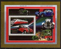 Madagascar  BF n� 49 XX Moyens de transport : Autorail Bugatti  le bloc sans charni�re