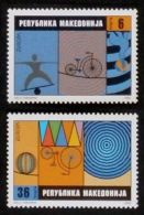 MACEDONIA 2002 EUROPA CIRCUS ACROBATS BICYCLES CYCLING SET MNH - Macedonia