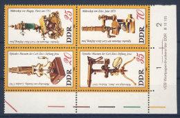 DDR Michel Nr. 2534 - 2537 ** postfrisch DV Druckvermerk / W Zd 463