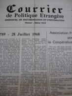 Courrier De Politique étrangere - Newspapers