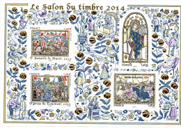 N° 135 De 2014  -APC -  6.20 € -  Bloc Doré émis Salon Du Timbres - Grandes Heures Histoire De France - Blocks & Kleinbögen