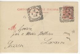 Tondo Riquadrato Di S.Maria Capua Vetere (p.2) Su Floreale 10 C. Su Cartolina Per Estero - Storia Postale