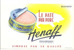 Buvard.Henaff La Paté Pur Porc Henaff S´impose Par La Qualité Pouldreuzic Finistère - Alimentaire