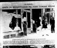 V0684 - PN PILLAGE Par Les Allemands à PARIS - Plaques De Verre