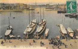 Marseille - Le Vieux Port - Bateaux à Quai - Carte LL Colorée N°102 - Vecchio Porto (Vieux-Port), Saint Victor, Le Panier