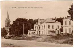 Coligny Monument Aux Morts Et Hôtel De Ville - France