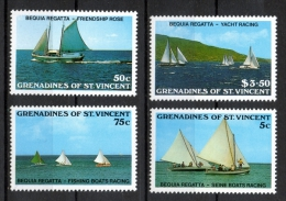 Grenadines St. Vincent 1988 - Bequia Regatta Cruiser Yacht Barca A Vela Con Motore MNH ** - St.Vincent E Grenadine