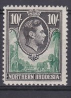 Northern Rhodesia-1938/50. 10/- SG44. Very Fresh MH.£10.50 - Northern Rhodesia (...-1963)