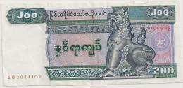 MYAMMAR BILLET 200  Kyats NEUF - Billets