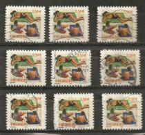 France 2003 Oblitéré  Autoadhésif  N°  35  Ou  N°  3578  Vacances   ( 9  Exemplaires ) - Adhesive Stamps