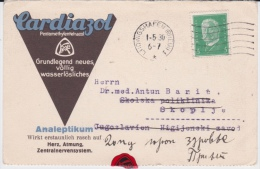 Germany-1930 Pharmacy Company, Ludwigshafen Advertising Postcard Cover - Deutschland