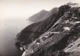 RP: SANTORIN ISLAND , Greece 30-40s : Le Port Et L'Escaeies - Grèce