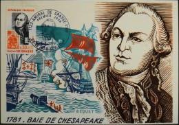 CARTE  MAXIMUM  ANNEE 1972 - Amiral De GRASSE - Le Bar-sur-Loup Le 09.09.1972 - Maximum Cards