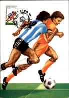 FOOTBALL - Coupe Du Monde - MEXICO - Carte Hongroise - Carte Philatélique - 1986 - Calcio