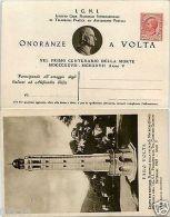 ONORANZE A VOLTA 1927 - Intero Postale 10 Cent LEONI - Nuovo - Italy