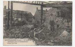 80 SOMME - BEUVRAIGNES Un Atelier De Mécanique Après Le Bombardement - Beuvraignes