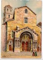 CP Barre Et Dayez - ARLES - Le Portail De La Cathédrale St-Trophime - N° 2149 B - Illustrateur Barday - Arles