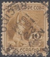 1916.3 CUBA. 1916. Ed.102. 10c. TELEGRAFOS. TELEGRAPH. ALEGORIA DEL RAYO. USADO DE CORREOS. - Kuba