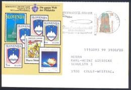 Germany Deutschland 1982: Aviation Airplanes Zeppelin Luftsiff Slogan Cancellation; Slovenia Croatia Stamps Cachet - FDC & Gedenkmarken