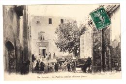 CPA (83) ARTIGNOSC - La Mairie, Ancien Château Féodal (avec Animation) - France