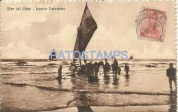 1685 ARGENTINA MAR DEL PLATA LANCHA PESCADORA FISHERMAN ED Nº 42485 YEAR 1914 POSTAL POSTCARD - Argentinien
