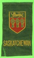 CARTES CIGARETTES - CIGARETTE SILK CARD, PROVINCE OF SASKATCHEWAN FLAG TOBACCO EPHEMERA - - Cigarette Cards