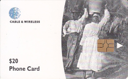 DOMINICA(chip) - Water Carriers, First Chip Issue $20, Chip GEM6b, Used - Dominica
