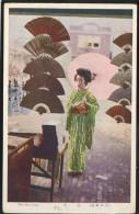 JAPAN GEISHA IN COSTUME OLD POSTCARD #074 - Sin Clasificación