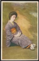 JAPAN GEISHA IN COSTUME OLD POSTCARD #075 - Sin Clasificación