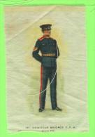 CIGARETTE SILK CARDS, 1st HOWITZER BRIGADE C.F.A. GUELPH, ONTARIO No 37 - FLAG TOBACCO EPHEMERA - - Cigarette Cards