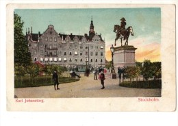 C P A--SUEDE--STOCKHOLM--karl Johanstorg--voir 2 Scans - Suède