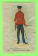 CIGARETTE SILK CARDS - SERGEANT MAJOR 84th ST-HYACINTHE REGT, QUEBEC - No 22 - FLAG TOBACCO EPHEMERA - - Cigarette Cards