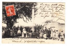 CPA (83) ARTIGNOSC : Fontaine De La Place (Avec Animation) - Other Municipalities