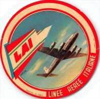 """0995 """"LAI - LINEE AEREE ITALIANE´""""  ETICHETTA ORIGINALE. - Aviazione Commerciale"""
