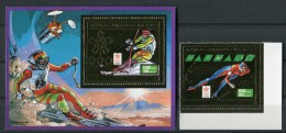 """MADAGASCAR  1988  MNH   """" JEUX OLYMPIQUES HIVER CALGARY """" -  1 BLOC + 1  VAL. OR / GOLD"""