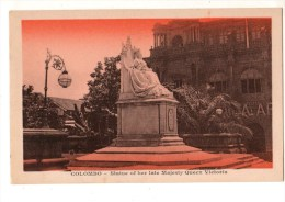 ASIE------SRI LANKA--COLOMBO--statue Of Her Late Majesty Queen Victoria--voir 2 Scans - Sri Lanka (Ceylon)