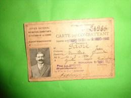 Carte Du Combattant-- - Army & War