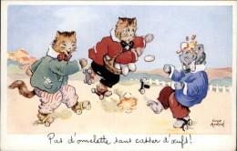 SPORTS - PATINAGE A ROULETTES - PATINS A ROULETTES - Fantaisies Chats - Dessin De LUCE ANDRE - Cartes Postales