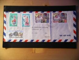 3 Enveloppes Cachets 1971 Et 1974,direction Belgique (Zuun) - Philippines
