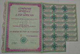 Cie Générale De L'Est Africain, Plateau Du Marabout à Djibouti, 1/10 Eme De PF I - Afrique