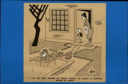SPORTS - PATINAGE A ROULETTES - PATINS A ROULETTES - Dessin D'UBER Tiré D'un Journal De 1959 - Vieux Papiers